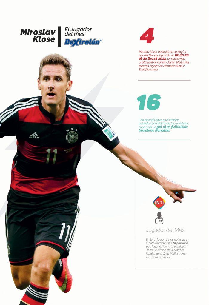 Miroslav Klose, el jugador del mes